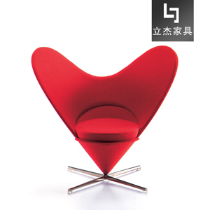 潘通心形锥形椅Heart-cone-chair