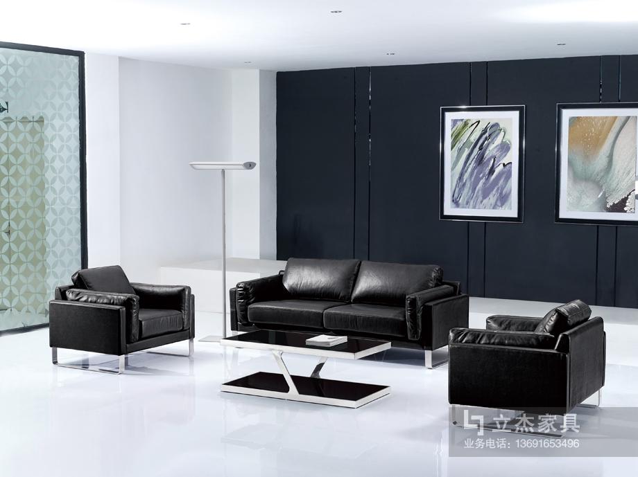 现代真皮办公沙发